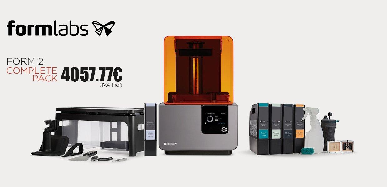 Impressora 3D Form 2 complete pack da Formlabs