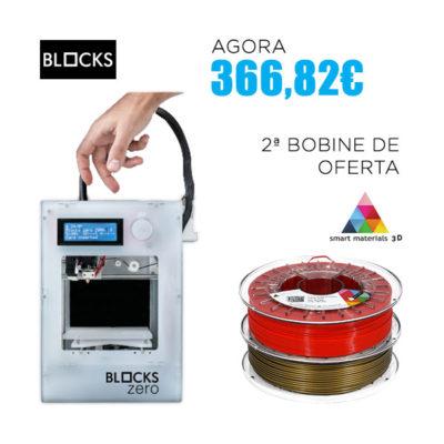 Pack promocional - Impressora Blocks Zero e 2ª bobine de PLA Smartfil de oferta