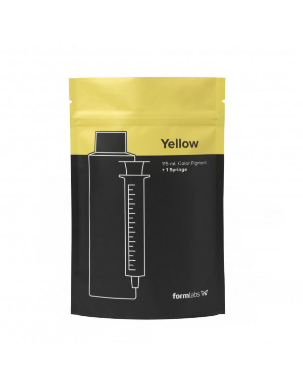 color kit formlabs pigmento amarelo